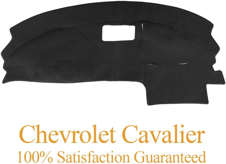 Dashboard Cover Dash Cover Mat Pad Carpet Custom Fit for Chevy Chevrolet Cavalier 1995-2005 (Black) Y46