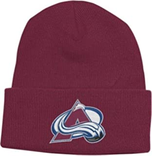 566d80ede77a4 Colorado Avalanche Cuffed Basic Beanie Knit Hat - Maroon