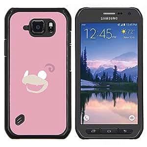 EJOOY---Cubierta de la caja de protección para la piel dura ** Samsung Galaxy S6Active Active G890A ** --Charmander P0kemon