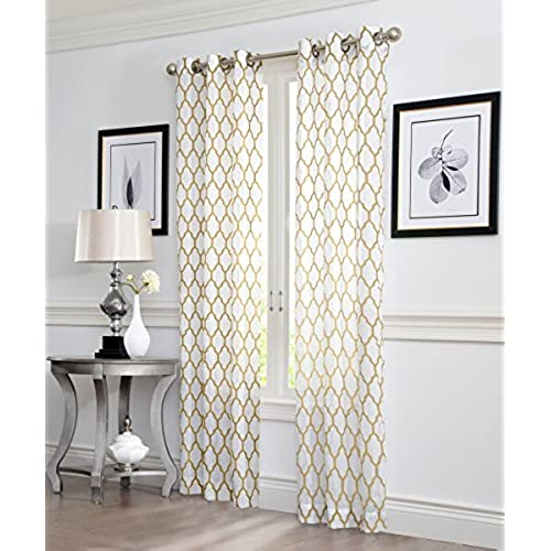 d curtain store bed curtains lush s window trellis geo rod cor beyond pair panel inch pocket bath