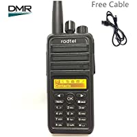 RADTEL RT-27D Digital DMR Two Way Radio Compatible with MotoTRBO 1000 Channels Selective Call, Group Call, Micro USB Port for Programming