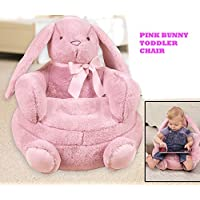 Pink Little Bunny Plush Children Toddler Chair