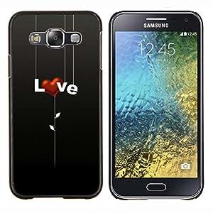 Qstar Arte & diseño plástico duro Fundas Cover Cubre Hard Case Cover para Samsung Galaxy E5 E500 (Amor corazon)