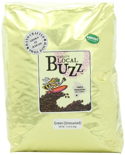 Hawaii's Local Buzz 100% Hawaiian Ka'u Coffee, Green (Unroasted), 160 Ounce