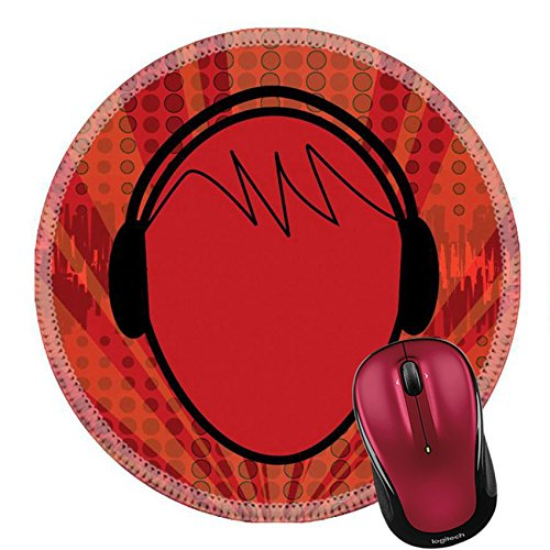 Liili Round Mouse Pad Natural Rubber Mousepad Music Head Photo 1156082