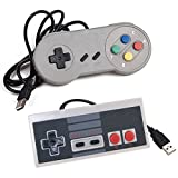 EEEKit 2-Pack Classic Nintendo USB NES Controller USB Famicom Controller Joypad Gamepad,Computer Games Solution Kit for Windows PC / MAC / Raspberry Pi (Type A+Type B)