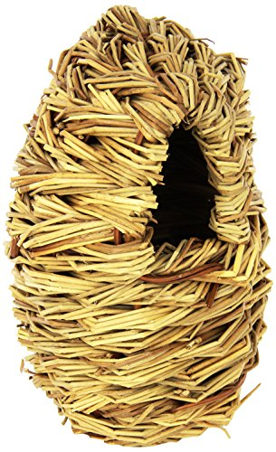 51n8 Itg ML - Prevue Pet Products BPV1152 Natural Fiber Parakeet Covered Twig Nest, Large
