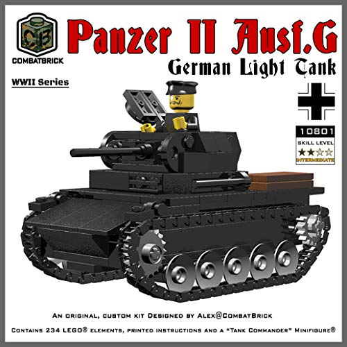 (CombatBrick WW2 German Panzer II Light Tank - Custom Army Brick Builder Model)