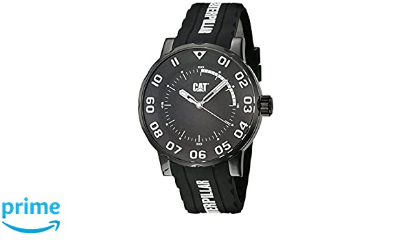 Amazon.com: CAT WATCHES Mens Bold II Stainless Steel Analog-Quartz Watch with Silicone Strap, Black, 21.04 (Model: NM.161.22.112: Watches
