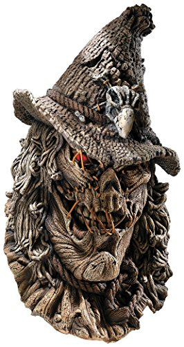 Deluxe Scarecrow Mask (Rubie's Costume Co Men's Scarecrow Deluxe Latex Mask, Brown, One Size)