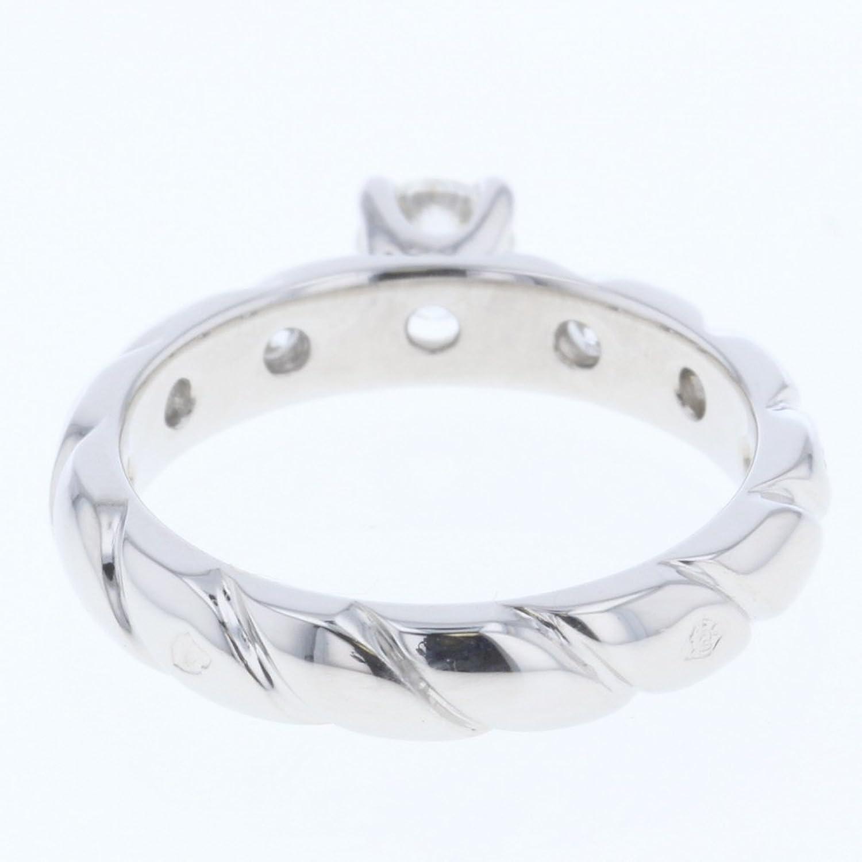 e87b7b8c1f38 実寸サイズ)6号 0.3cm リング内径:14.75mm ダイヤモンド 0.25ct G VVS2 EXCELLENT  付属品:保存袋、鑑定書、販売証明書カラー:シルバー