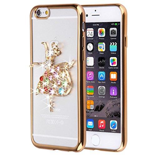 Phone Taschen & Schalen Für iPhone 6 Plus & 6s Plus Diamond verkrustete Schmetterling Muster Soft TPU Fall ( SKU : IP6P0087F )