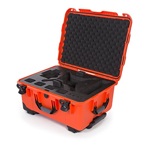Nanuk DJI Drone Waterproof Hard Case with Wheels and Custom Foam Insert for DJI Phantom 4/ Phantom 4 Pro (Pro+) / Advanced (Advanced+) & Phantom 3 - 950-DJI43 (Orange Hard Case)