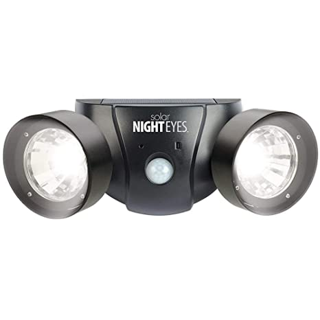 Doble lámpara LED con detector de movimiento, color negro