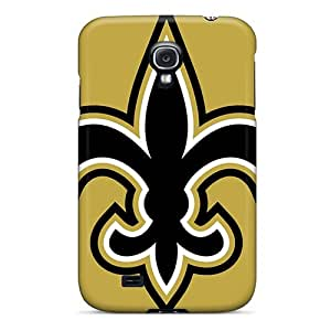 Protector Cell-phone Hard Cover For Samsung Galaxy S4 With Support Your Personal Customized Attractive New Orleans Saints Image JasonPelletier