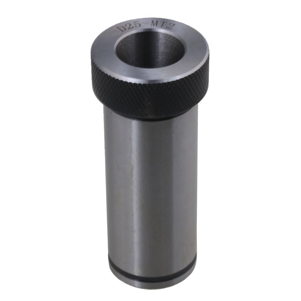 CNBTR 40 Chrome Steel MT2 Morse Taper Drill Sleeve Adapter Holder D25 Reducing Drill Sleeve for Lathe Milling