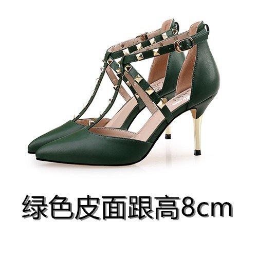 De 8cm Patio Green Tacón Sandalias Pequeño De Patio Tacón Acentuada Alto Shoessummer Mujer Alto De Sandalias Grande Alto Sandalias De VIVIOO Tacón Hembra 1IUqBB