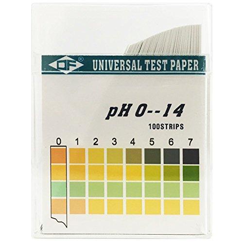 ANZESER 0-14 Plastic pH Test Strips, Universal Applicatio...