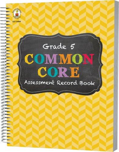 Common Core Assessment Record Book, Grade 5