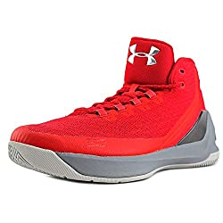 Under Armour Curry 3 Men Us 10 Red Sneakers