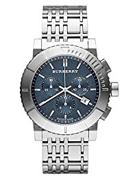 SALE! Authentic Swiss Burberry TOP LUXURY Trench Chronograph Watch Men Women Stainless Steel Blue Date Dial BU2308