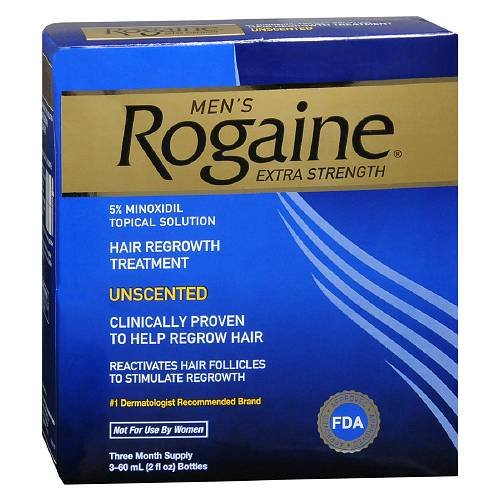 (Men's Rogaine Extra Strength Hair Regrowth Treatment, Unscented 3 month supply)
