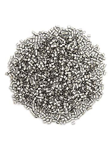 Metal Crimp Tube - Cousin DIY 72097005 Metal 2x2mm Crimp Tubes, 1474 pc, Silver