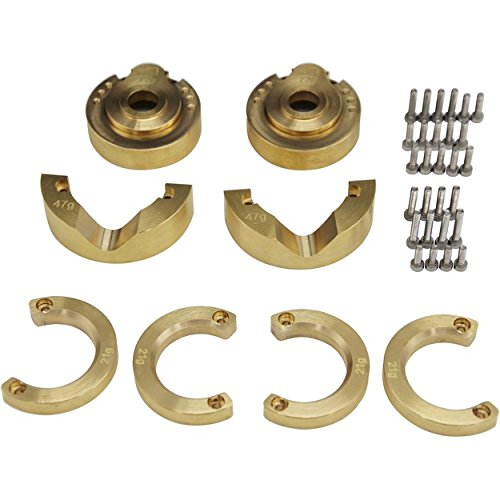 Hot Racing TRXF21HA Ultimate Modular Brass Front Portal Knuckle Weight Kit Tra T