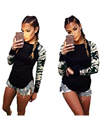 Franterd Women Long Sleeve T Shirt Casual Blouse Tops