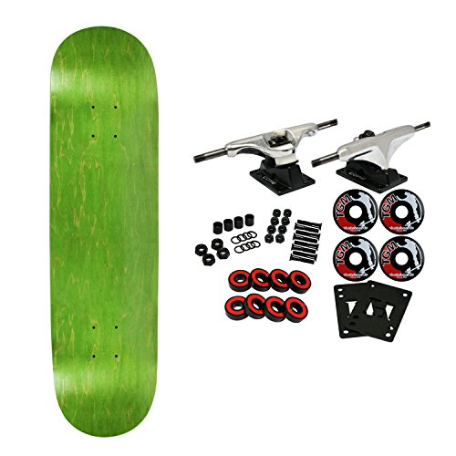 complete skateboard stained green 8