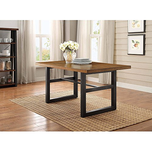 Dining Room Table, Kitchen Furniture Elegant, Accommodates Seating for 6 Guests, Sturdy and Dura ...