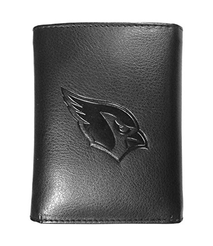 Siskiyou NFL Arizona Cardinals Embossed Tri-fold Wallet, Black