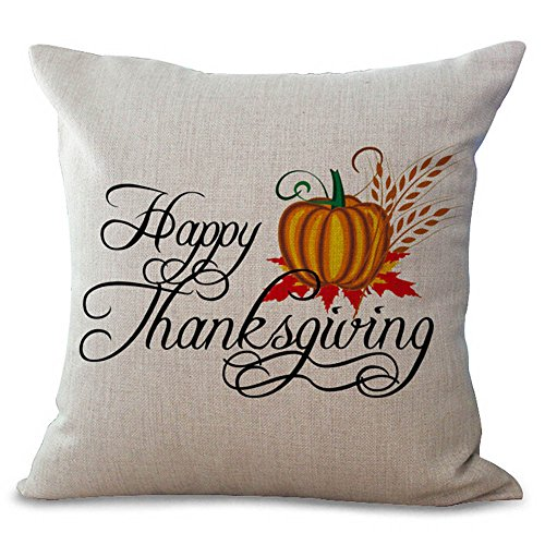 Happy Thanksgiving Day Throw Pillow Cases Cafe Sofa Cushion Cover Home Decor HunYUN