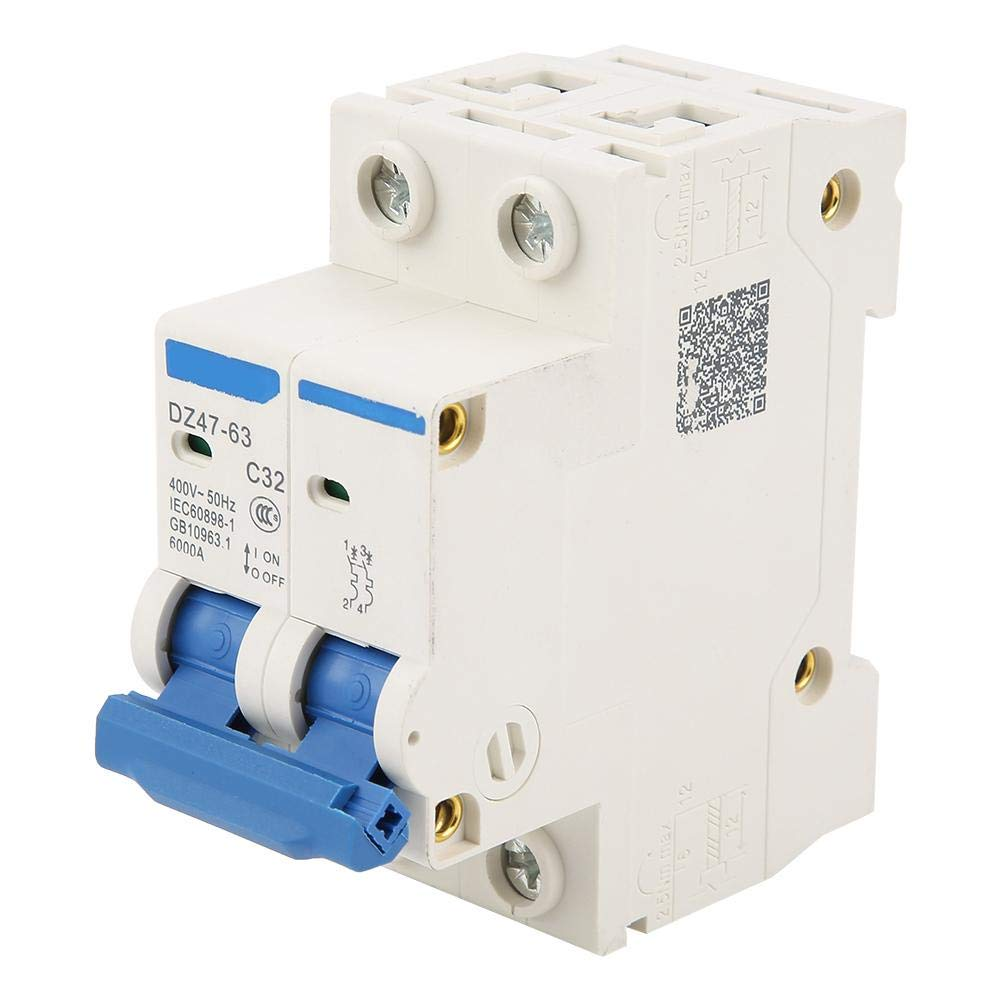 Current Circuit Breaker DZ47-63 2Pole 32A RCCB Residual Breaker 220//380V