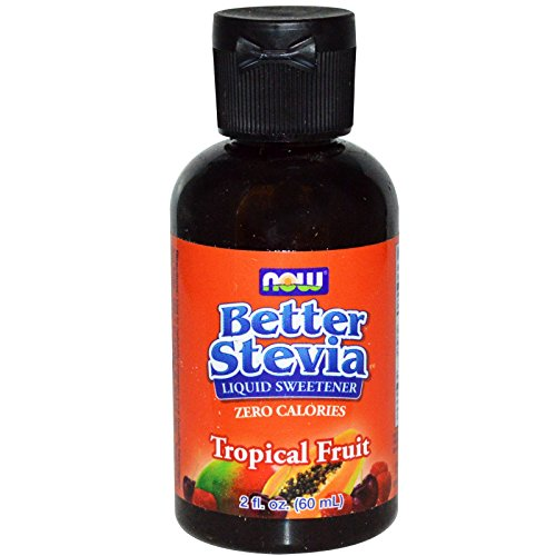 Now Foods, Better Stevia Liquid Sweetener, Tropical Fruit, 2 fl oz (60 ml) - 3PC by NOW Foods