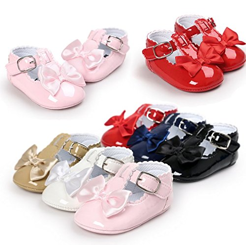 Image of Sabe Infant Baby Girls Soft Sole Prewalker Crib Mary Jane Shoes Princess Light Shoes