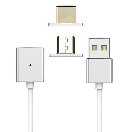 Amazon.com: uniha Cargador Micro USB Type-C magnético de ...