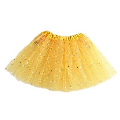 A0127 - Falda - para niña Amarillo Talla única: Amazon.es: Ropa y ...