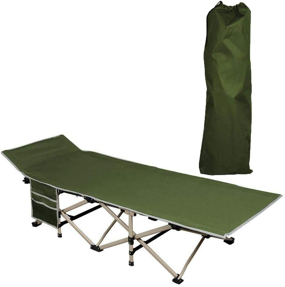 Ultralight Folding Camp Bed Camping Cot Sleeping Outdoor Picnic Hospital Mat USA