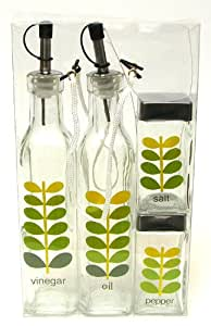 Vinegar and Oil Cooking 4pc set Leaves (Please see item detail in description)