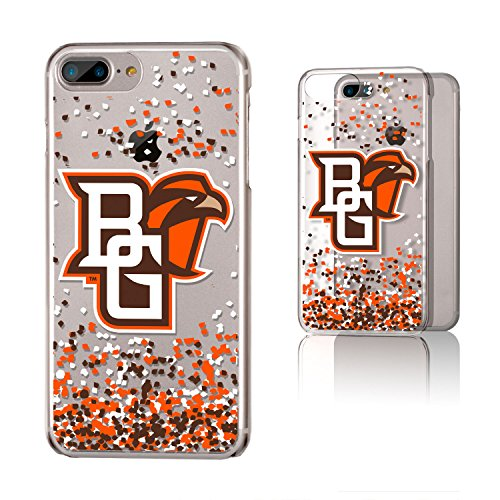 Keyscaper KCLR7X-0BOW-FETTI1 Bowling Green State Falcons iPhone 8 Plus / 7 Plus / 6 Plus Clear Case with BGSU Confetti Design (Store Bowling Green Apple)