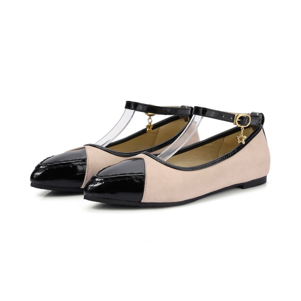 BalaMasa Womens Buckle Assorted/Color Low-Cut Uppers Patent-Leather Mary-Jane-Flats