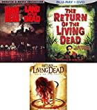 Brain Eating Pack Dawn of the Dead / George Romero Land of the Dead / Return of the Living Dead & Rave to the Grave DVD 4 Movie Collection