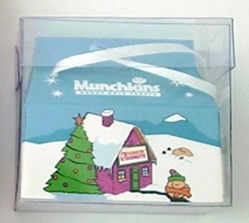 Dunkin Donuts Ornament Christmas Holiday Munchkin Box -