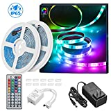 Tools & Hardware : LED Strip Lights 32.8ft, MINGER Waterproof RGB LED Light Strip 300 LEDs Color Changing LED Lights with 44 Key IR Remote Control Ideal for Room, Home, Kitchen, Party, Christmas, 2x16.4ft