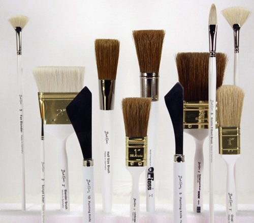 Bob Ross - Landscape Brush Set, Oil Based Painting Tools, 12 pieces - Set Oil Complete Painting