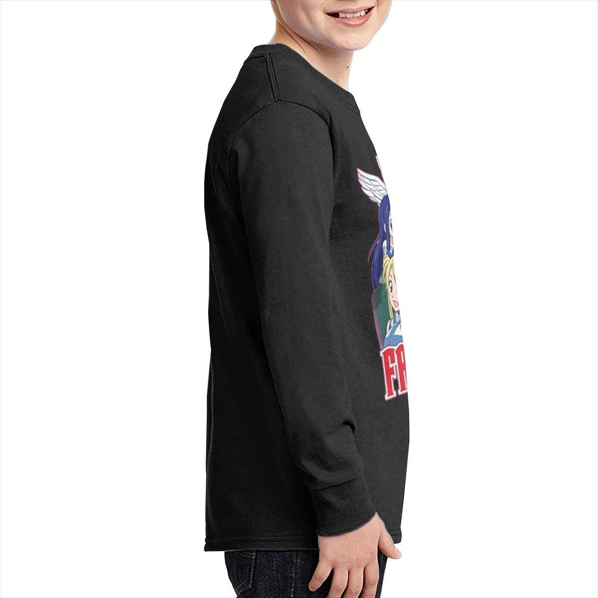 Kilsd Boys /& Girls Junior Funny Fairy Tail Anime Long Sleeve T-Shirts Black