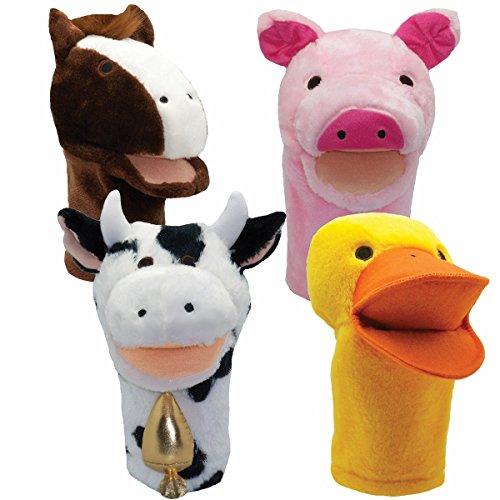 Get Ready Kids Bigmouth Farm Puppet Set: Pig, Cow, Duck, Horse