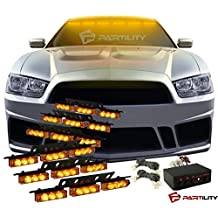54 LED Amber Yellow Emergency Warning Flash Strobe Lights Tow Car Truck