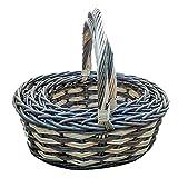 Set of 3 Burlington Wicker Shopping Basket